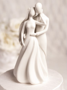 Romantic Silhouette Of Love Wedding Cake Topper